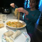 Happy child cook made meal from Fairytale Food Safari